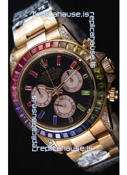 Rolex Cosmograph Daytona 116595RBOW Rose Gold 1:1 Mirror Cal.4130 Movement - Ultimate 904L Steel Watch