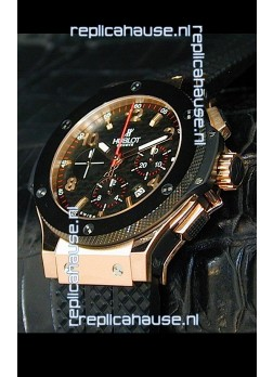 Hublot Big Bang Swiss Replica Watch in Rose Gold Case