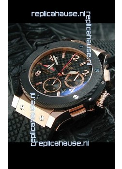 Hublot Big Bang Geneve Yacht Club Swiss Replica Watch in Rose Gold Case
