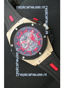 Hublot Big Bang King Power Manchester United Japanese Replica Rose Gold Watch