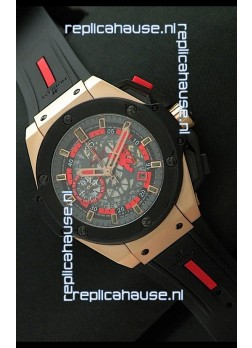 Hublot King Power Limited Edition Swiss Replica Rose Gold Watch