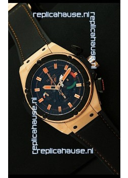 Hublot King Power F1 India Edition Swiss Watch in Pink Gold