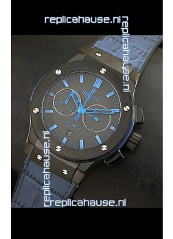 Hublot Big Bang Classic Fusion Swiss Replica PVD Watch in Blue Strap