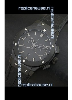 Hublot Big Bang Classic Fusion Swiss Replica PVD Watch in Black Strap