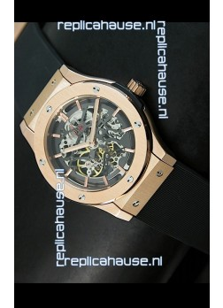 Hublot Classic Fusion Japanese Replica Watch in Pink Gold Casing