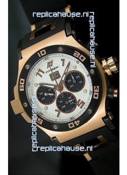 Hysek Abyss Explorer Steel Swiss Watch in Pink Gold Case