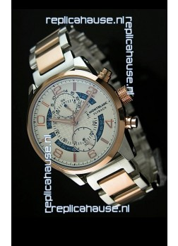 Mont Blanc Flyback Japanese Automatic Replica Watch Two Tone Casing