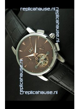 Mont Blanc Flying Tourbillon Japanese Replica Watch in Brown Dial