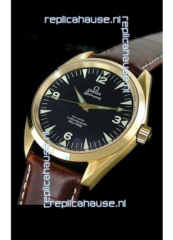 Omega Railmaster Swiss Watch in Rose Gold Casing