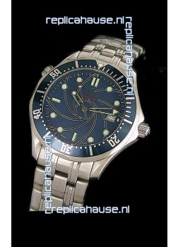 Omega Seamaster 007 Swiss Watch in Blue Dial