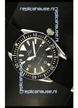 Omega Seamaster 300 R-Navy Black Dial Swiss Watch with Navy Strap