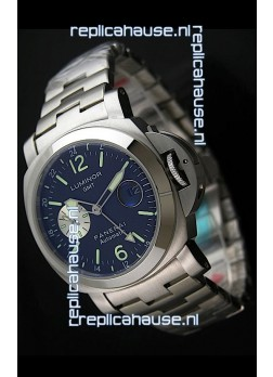 Panerai Luminor GMT Swiss Automatic Watch in Stainless Steel