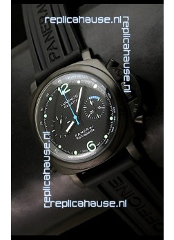 Panerai Luminor Regatta Flyback Swiss Watch PVD Casing