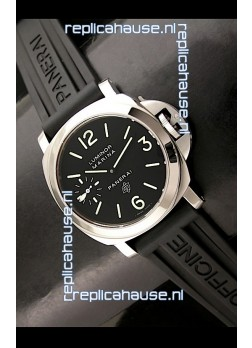 Panerai Luminor marina Swiss Steel Watch in Black Dial