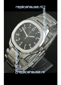 Patek Phillipe Nautilis Swiss Replica Watch in Black Dial