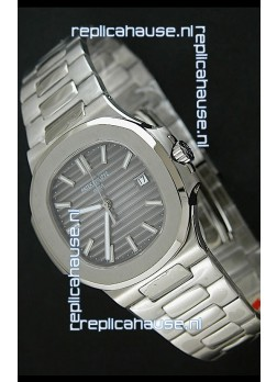 Patek Phillipe Nautilis Swiss Replica Watch in Grey Textured Dial