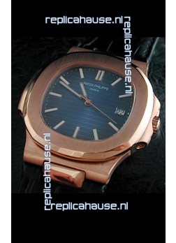 Patek Philippe Geneve Nautilus Swiss Watch in Rose Gold Casing