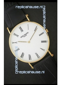 Patek Philippe Calatrava Japanese Quaartz Watch in White Dial