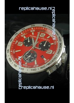 Porsche Design Flat Six P'6320 Japanese Watch in Red Dial