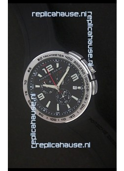 Porsche Design Flat Six P'6320 Japanese Watch in Black