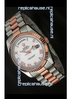 Rolex Day Date Swiss Replica Rose Gold Watch