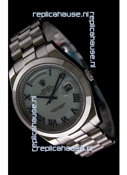 Rolex Oyster Perpetual Day Date II Swiss Replica Watch in Light Blue Dial