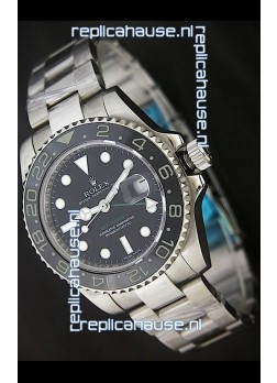 Rolex GMT Master II Swiss Replica Watch in Ceramic Bezel - 1:1 Mirror Replica