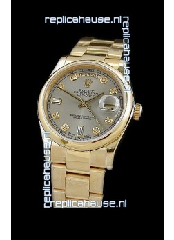 Rolex Day Date Swiss Full Gold Diamond Replica Watch