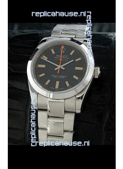 Rolex Oyster Perpetual Milgauss Swiss Replica Watch in Black Dial