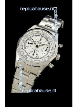 Rolex Oyster Chronograph Vintage Swiss Replica Watch in White Dial
