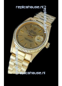 Rolex Replica Day Date Swiss Mens Gold Watch