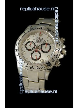 Rolex Daytona Cosmograph Swiss Replica Watch in White Dial