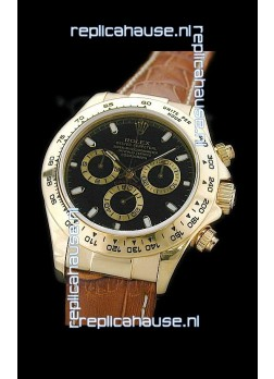 Rolex Daytona Cosmograph Swiss Replica Gold Watch in Gold Subdials