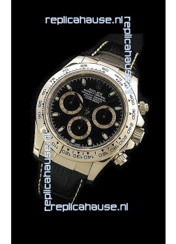 Rolex Daytona Cosmograph Swiss Replica Gold Watch in Black Dial