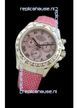 Rolex Daytona Cosmograph Swiss Replica Steel Watch in Pink Pearl Dial