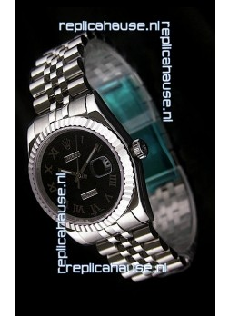 Rolex Datejust Swiss Replica Watch in Black Dial