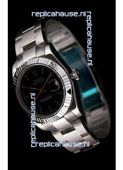 Rolex Datejust Turn O Graph Replica Watch in Black Dial