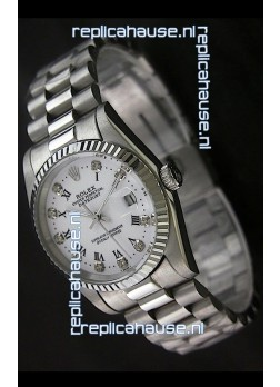 Rolex Datejust Oyster Perpetual Diamonds Swiss Watch
