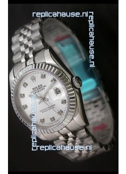 Rolex Datejust Oyster Perpetual Superlative ChronoMeter Swiss Replica Watch in Diamond Markers
