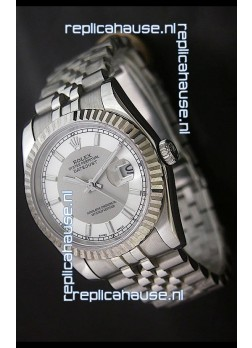 RolexDatejust Oyster Perpetual Superlative ChronoMeter Replica Watch in White & Grey Dial