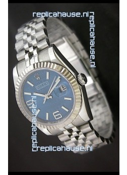 Rolex DateJust Replica Mens Watch in Blue Dial