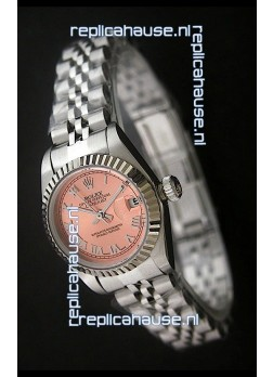 Rolex Datejust Oyster Perpetual Superlative ChronoMeter Swiss Watch in Orange Dial
