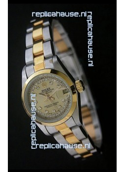 Rolex Datejust Oyster Perpetual Superlative ChronoMeter Japanese Gold Watch in Diamond Markers