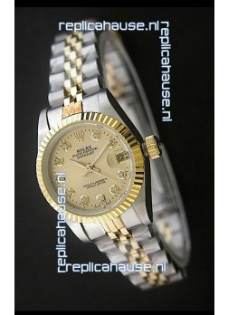 Rolex Datejust Oyster Perpetual Superlative ChronoMeter Japanese Gold Watch