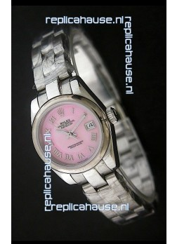 Rolex Datejust Oyster Perpetual Superlative ChronoMeter Swiss Watch in Pink Dial