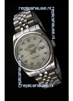 Rolex Datejust Mens Swiss Replica Watch in White Dial