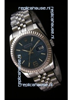 Rolex Datejust Mens Swiss Replica Watch in Blue Dial