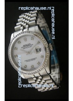 Rolex Datejust Swiss Replica Automatic Watch in White Dial