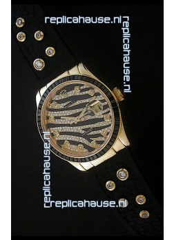 Rolex DateJust Gold Diamond Swiss Replica Watch
