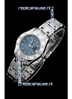 Rolex Datejust Ladies Japanese Replica Ladies Watch in Light Blue Dial